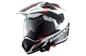 Шлем ASTON Cross Tourer Adventure, белый / черный
