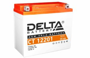 Аккумулятор 12В/20Ач (DELTA CT 12201, AGM)